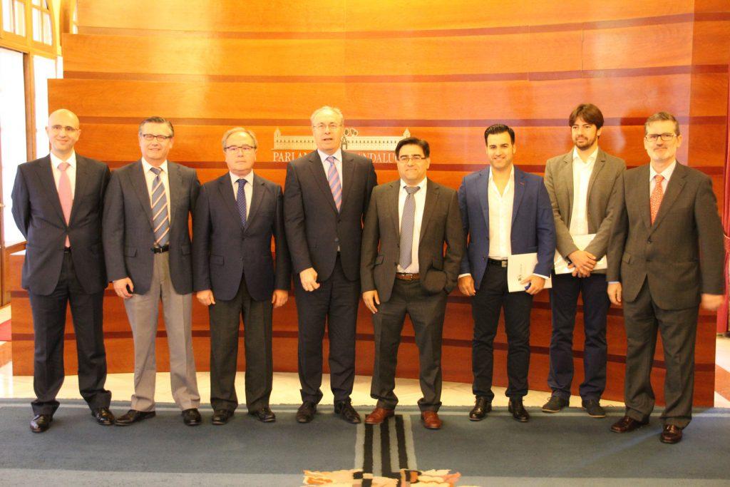 Reunión Acema Presidente Parlamento Andalucía Plan Renove Mueble. Apoyo para el mueble andaluz