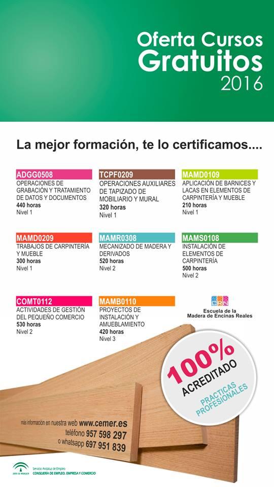 Certificados de profesionalidad Cemer Madera y Mueble