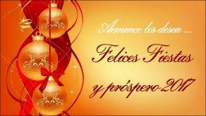Aemmce les desea Felices Fiestas