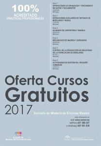 Oferta cursos gratuitos desempleados madera Cemer 2017