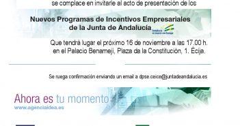 INVITACIÓN JORNADAS INFORMATIVAS INCENTIVOS AGENCIA IDEA ECIJA